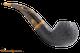 Savinelli Tigre Rustic Black 642 Tobacco Pipe Right Side
