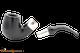 Peterson Ebony Spigot X220 Tobacco Pipe Fishtail Apart