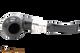 Peterson Ebony Spigot 999 Tobacco Pipe Fishtail Top