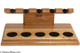 Neal Yarm Mahogany and Maple 5-Pipe Stand