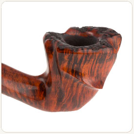 Flame grain on a tobacco pipe