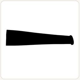 Tapered tobacco pipe stem