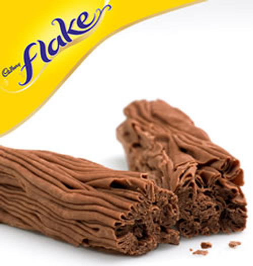 Cadburys flake, the crumbliest, flakiest chocolate