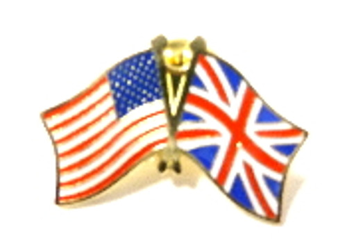Union Jack Flag & USA Collectors Pin