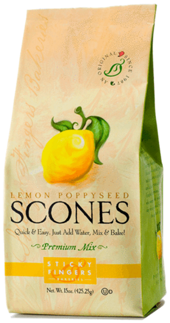 Sticky Fingers English Scone Mix Lemon Poppyseed