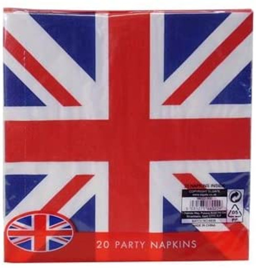 Union Jack (British Flag) Disposable 2ply Paper Napkins