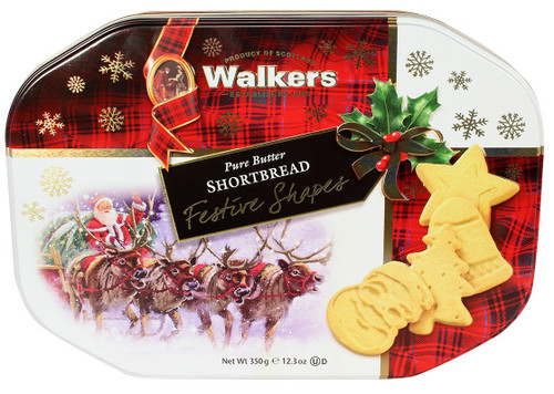 Walkers Shortbread Festive Shapes Tin 350g
