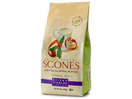 Sticky Fingers English Egg Nog Scone Mix  1lb