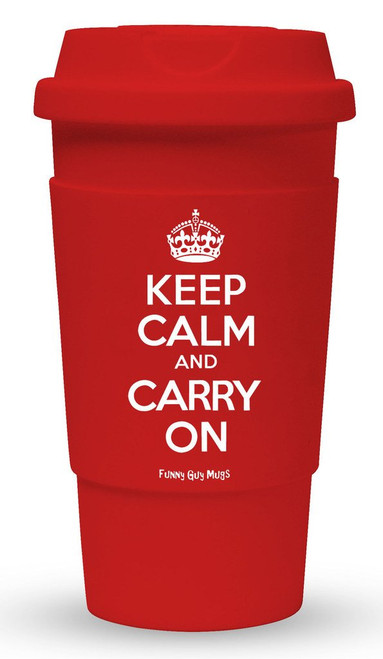 Keep Calm Carry On Travel Mug