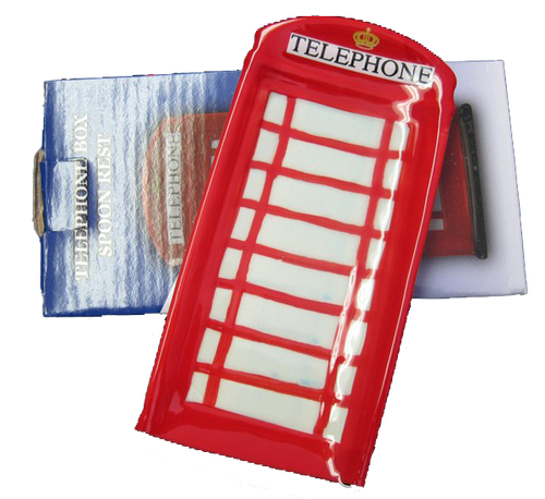 telephone box English style spoon rest
