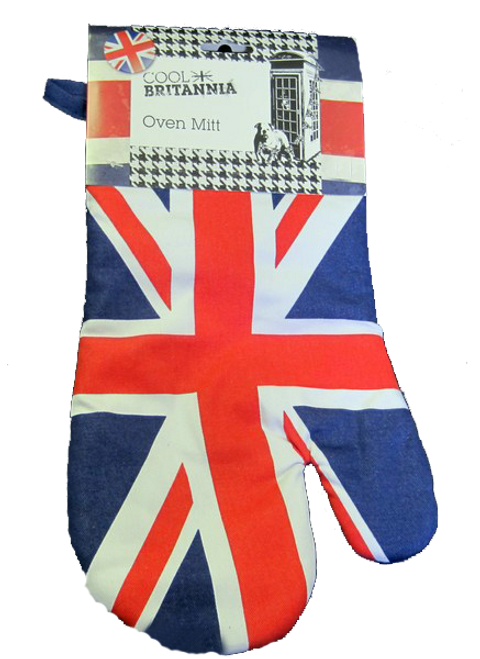 oven mitts with british flag