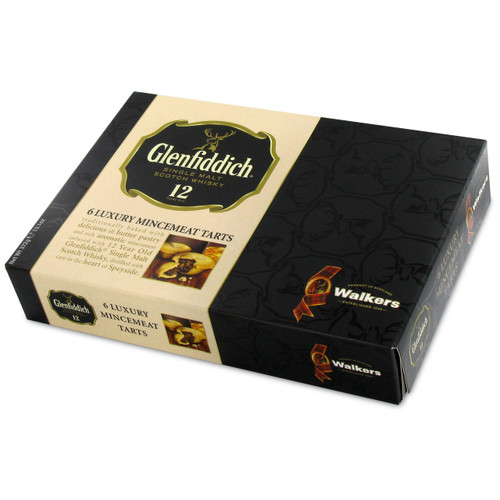 Walkers Luxury Fruit Mince Tarts with Glenfiddich Whisky - 6 Pack - 13.1oz (370g)