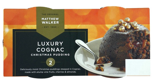 Matthew Walker Luxury Cognac Christmas Pudding 2pk