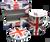 british mug and coaster set
