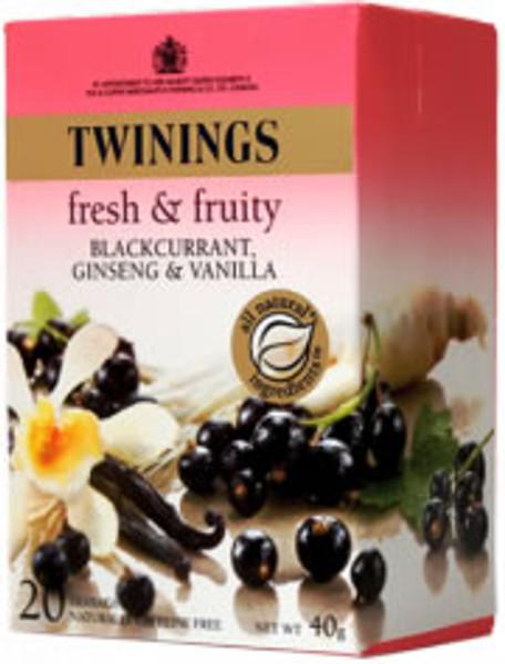 Twinings Blackcurrant, Ginseng & Vanilla 20 tea bags