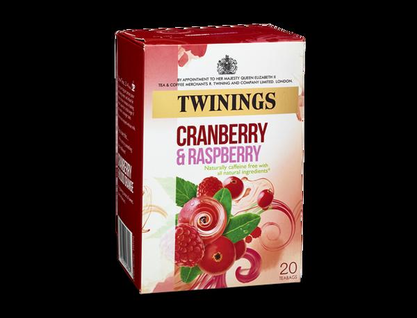 Twinings Cranberry & Raspberry & or Elderflower 20 tea bags
