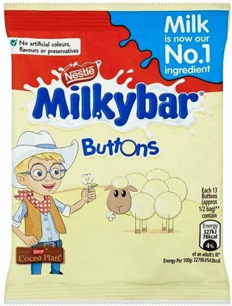 Creamy White Milk Chocolate Buttons
