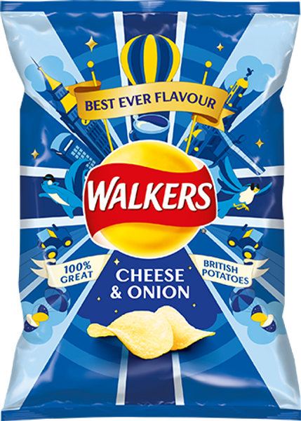 Walkers Cheese & Onion Crisps