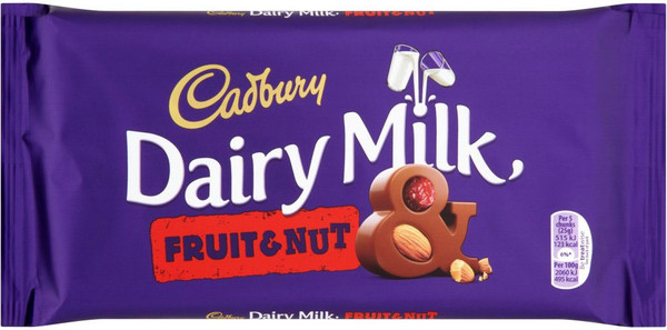 Cadbury Fruit & Nut Creamy chocolate bar 200g