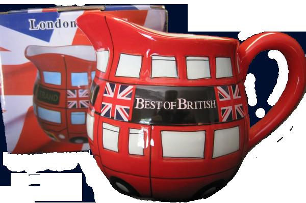 London bus milk jug