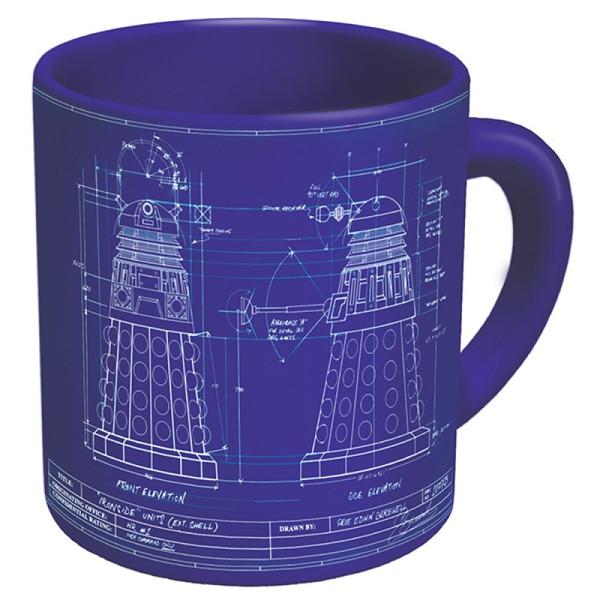 dalek blue print mug