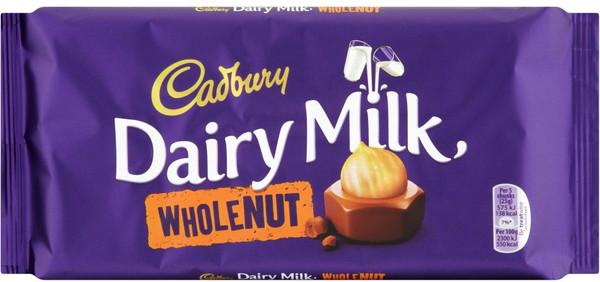 Cadburys Dairy Milk Whole nut Chocolate bar 200g