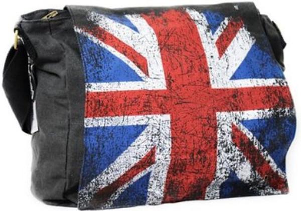 Robin Ruth Union Jack Messenger Canvas Bag