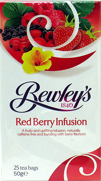 Bewleys Red Berry Infusion Tea Bags, 25 Count