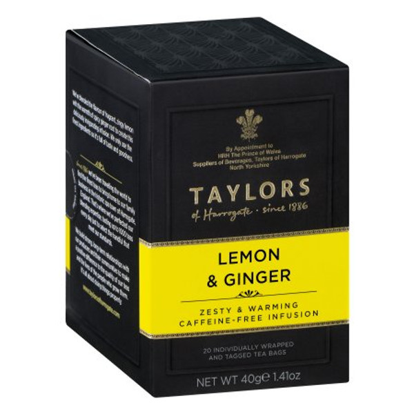 Taylors of Harrogate Lemon & Ginger Tea, 20 Tea Bags