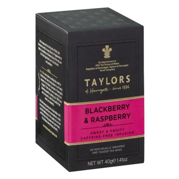 Taylors of Harrogate Blackberry & Raspberry Tea, 20 Tea Bags
