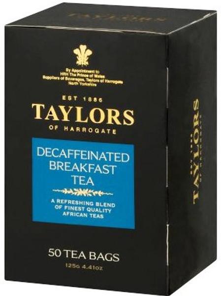 Taylors Of Harrogate Decaffeinated Breakfast Tea - 50 CT