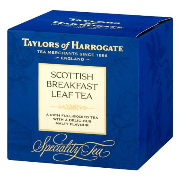 Taylors of Harrogate Scottish Breakfast Leaf Tea Carton, 4.4 Oz