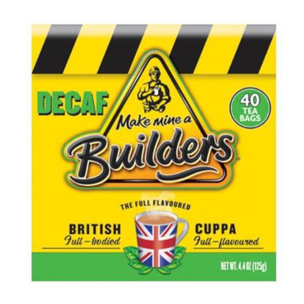 Builders Decaf 40 Tea Bags