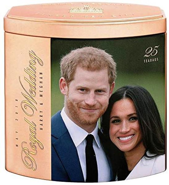 English Teas H.R.H. Prince Harry & Meghan Markle Royal Wedding 19th May 2018 Commemorative Tea Tin Teabags