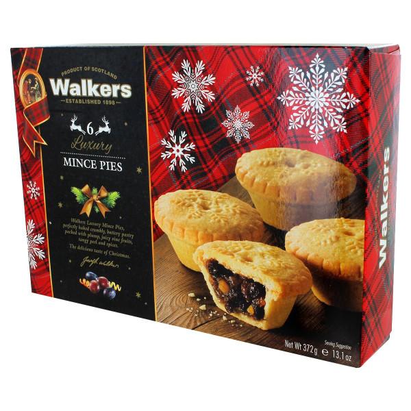 Walkers Luxury Fruit Mince Tarts - 6 Pack - 13.1oz (372g)