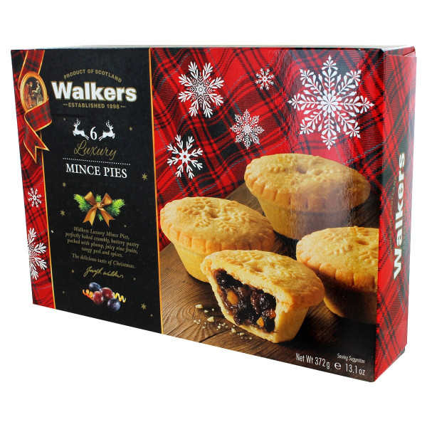 Walkers Luxury Fruit Mince Tarts - 6 Pack - 13.1oz (372g)