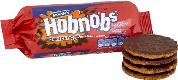 McVities Hob Nobs Dark Chocolate 262 g
