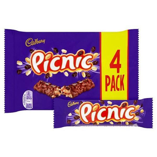 Cadburys Picnic 4pk