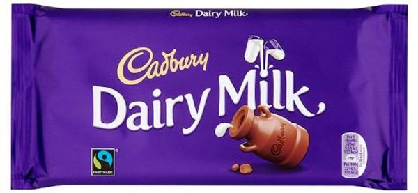 Cadburys Dairy Milk Chocolate bar 110g
