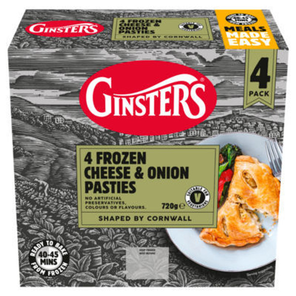 Ginsters Cheese & Onion pasty 4pk