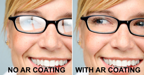 Non-AR Coated Lens vs. AR Coated Lens