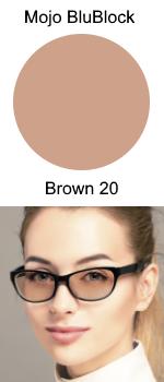 Mojo BluBlock Brown Tint