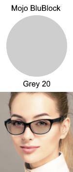 Mojo BluBlock Grey 20 Tint