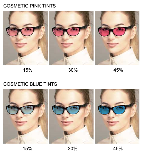 Pink and Blue Lens Tints