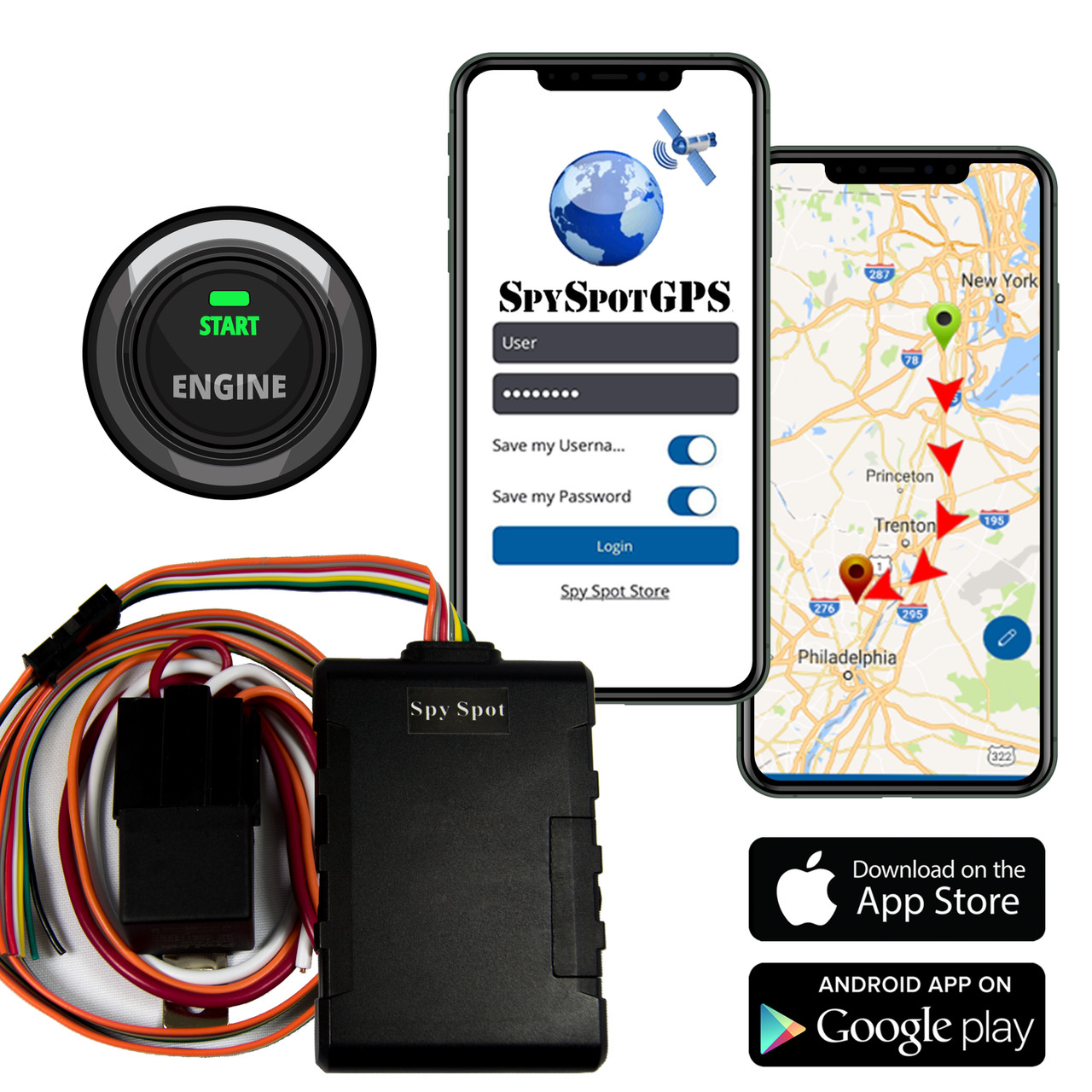 Disable Any Vehicle Ignition Remote Starter 4G Hard Wire Kill Switch GPS Vehicle Tracker Advance Satellite Real Time Fleet Tracking // Teen Driver Monitoring Alerts by Spy Spot