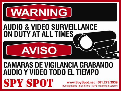 Audio and Video Surveillance Heavy Duty Sign
