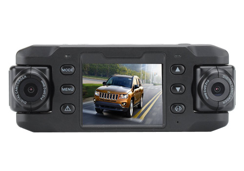 HD Car Camcorder Dash Cam with Dual Front and Back Screens