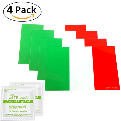 """4 Pack Italy Flag Vinyl Stickers 4"""" x 2.5"""""""