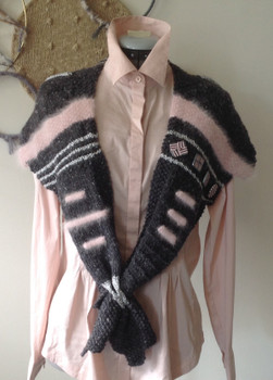 Charcoal and Pale Pink