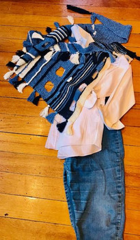Denim/Navy/Cream Great with Jeans/White Shirt